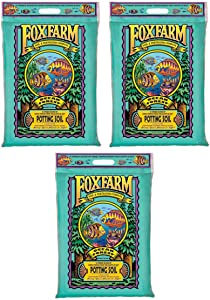 FoxFarm FX14053 Ocean Forest Organic Plant Garden Potting Soil Mix 12 Quarts, 11.9 Lbs (3 Pack)