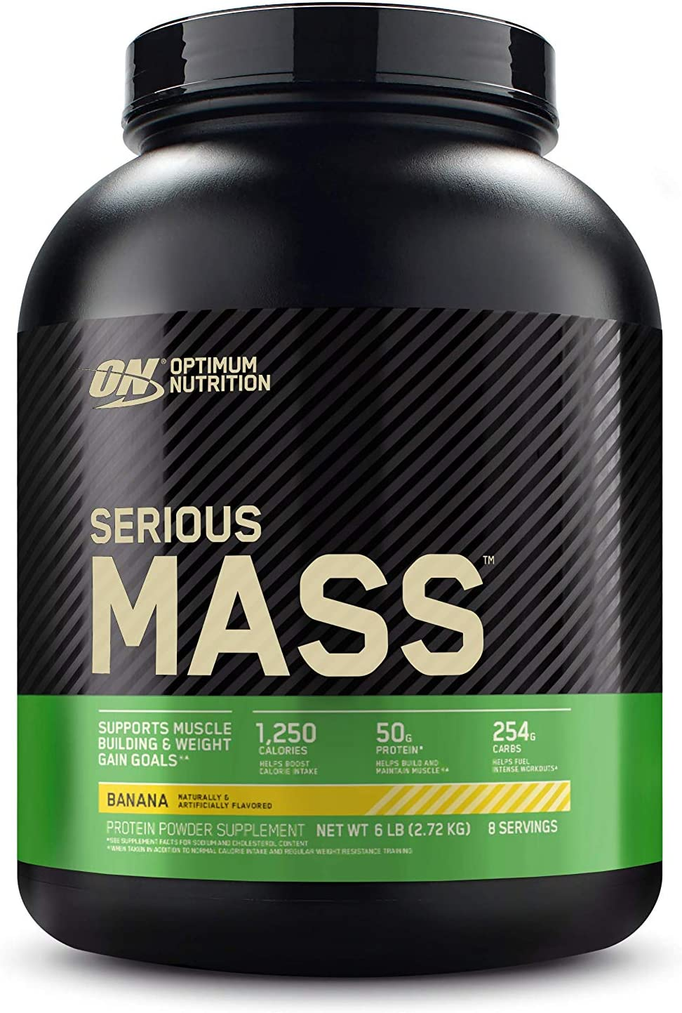Optimum Nutrition Serious Mass Weight Gainer Protein Powder, Vitamin C, Zinc and Vitamin D for Immune Support, Banana, 6 Pound (Packaging May Vary)