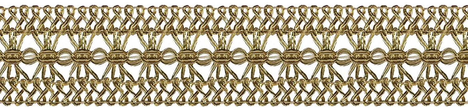 Wrights 1-3/4-Inch Wide Fine Gimp, 12-Yard, Gold 186 2718-046