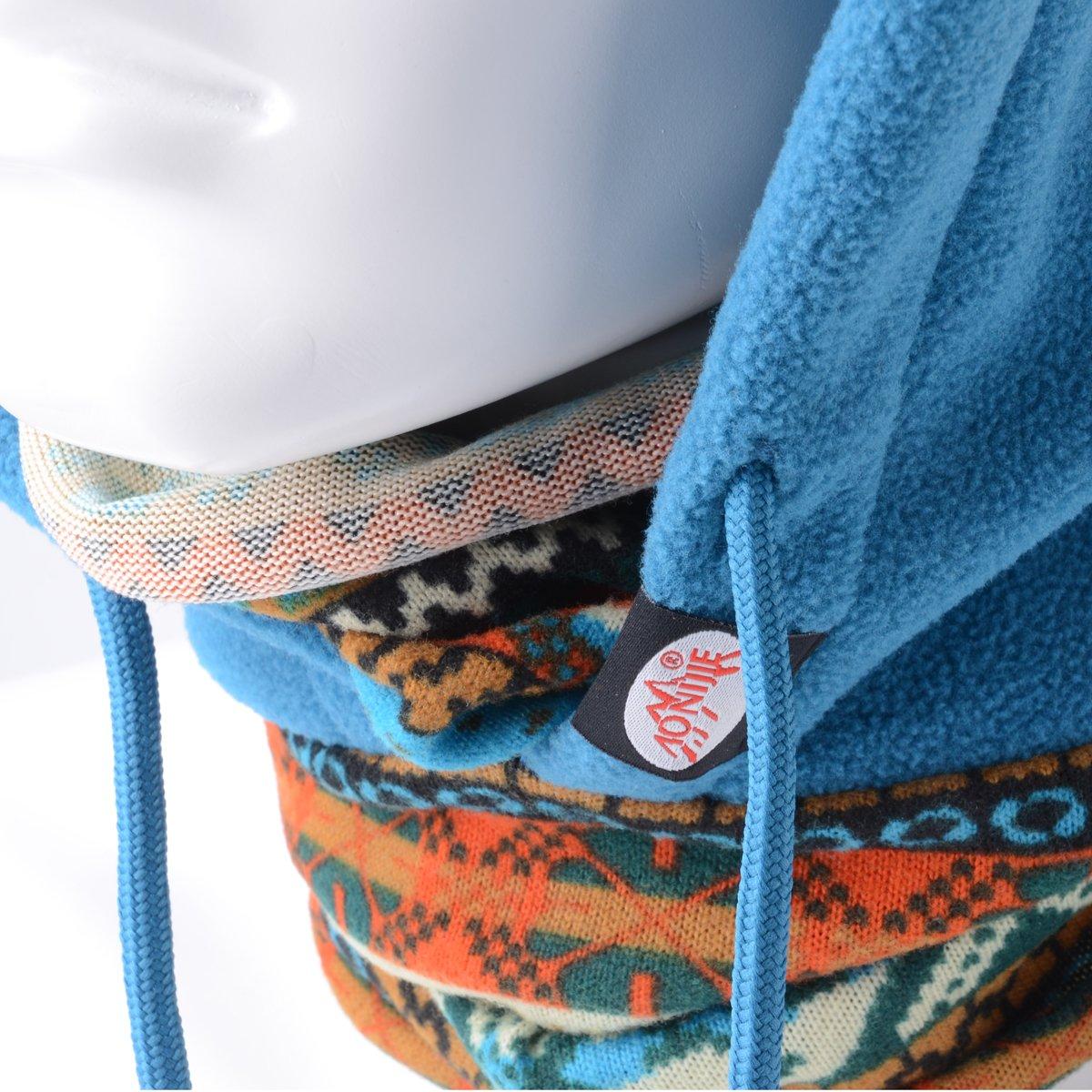 Azul Bohemia Pasamonta/ñas Gorra Calentador Polar Lana 4 en 1 Multifuncional M/áscara Rostro Exteriores M-SP010