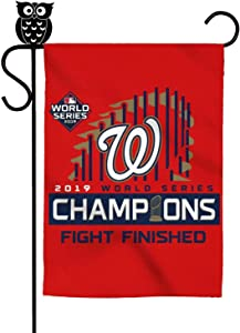 LONGSPQGHP Washington 2019 Baseball Garden Flag Festive American Welcome Decorative Flags 12 X 18 Inch