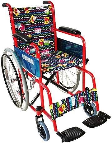 Silla de ruedas para niños plegable | Reposabrazos y reposapiés fijos | Ancho asiento 35 cm