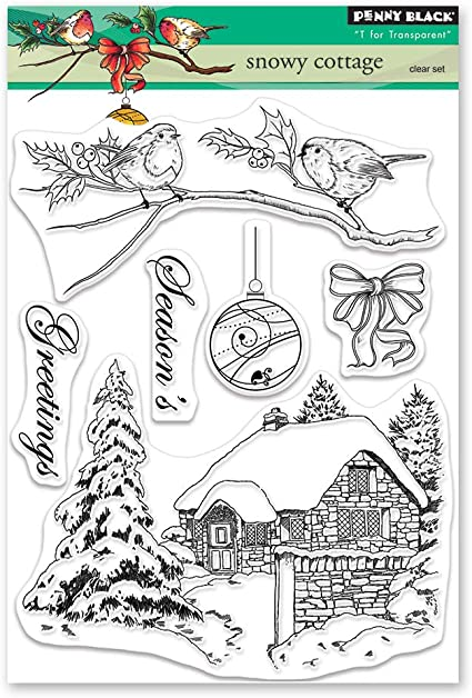 Penny Black 2521K Snowy Wood Mounted Rubber Stamp