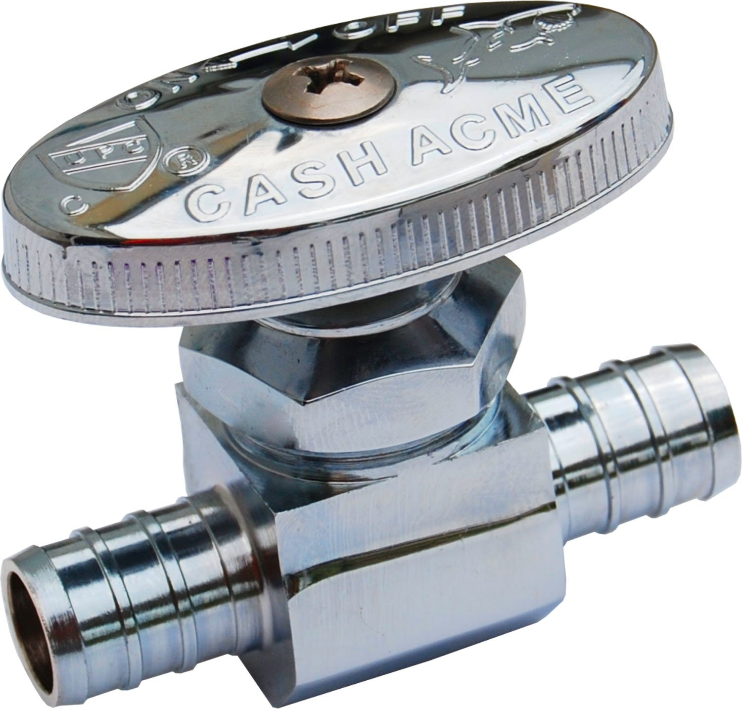 SharkBite 23063LF PEX Straight Shut Off Valve for Faucet or Toilet Installation, 1/2-Inch by 1/2-Inch