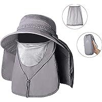 Unigear Sombrero para el Sol Gorro Pescador Anti-UV UPF50+ Gorra Pesca Solar ala Ancha Transpirable Multiusos con Velo y Mosquitera Protección Cuello Al Aire Libre