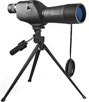 BARSKA 20-60x60 Waterproof Straight Spotting Scope with Tripod , Black