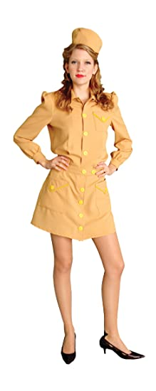 1940s Costumes- WW2, Nurse, Pinup, Rosie the Riveter 1940s Anchors Aweigh Costume- Blue or Tan- NEW $149.99 AT vintagedancer.com