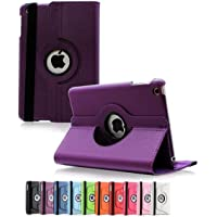 360 Degree Rotating Leather Case Cover for Apple iPad Air 2 (Hot Pink)