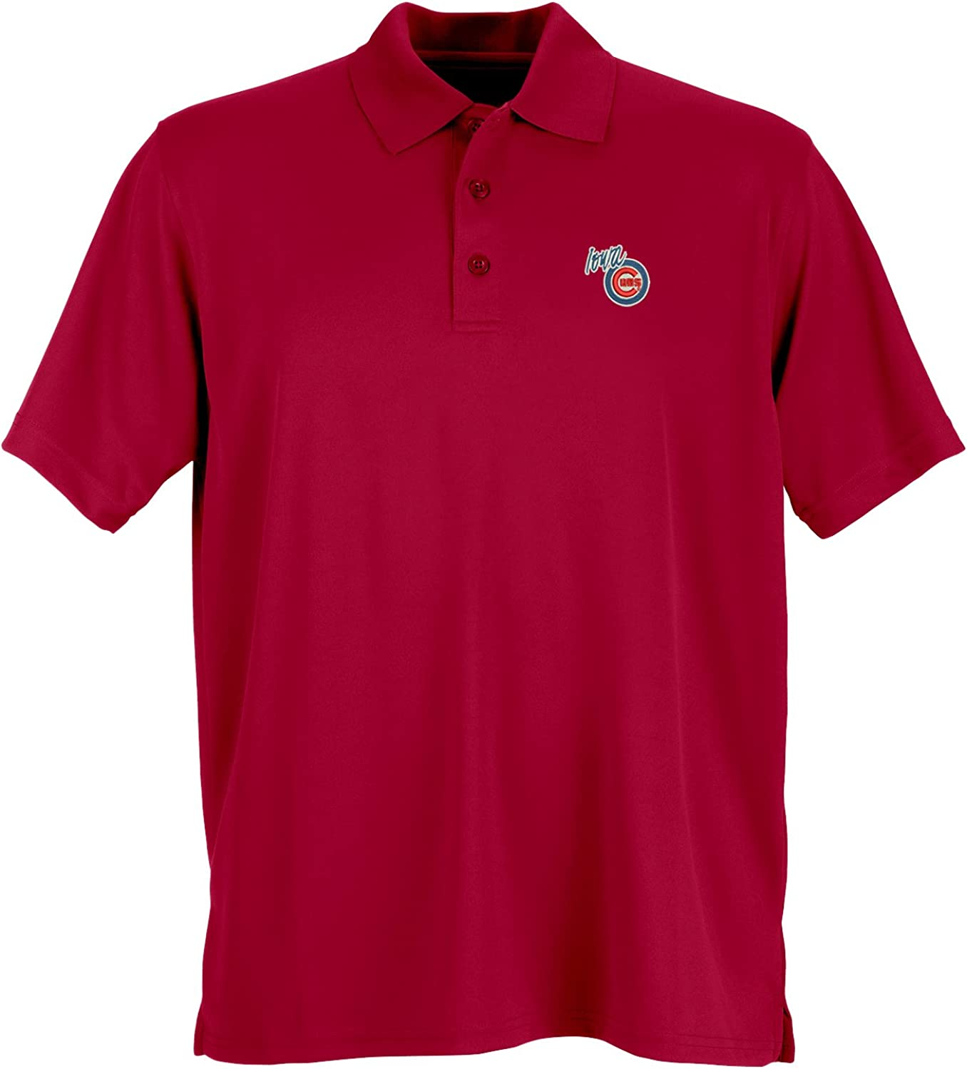 Vantage Apparel Minor League Baseball Iowa Cubs Mens Performance Mesh Polo Shirt Sport Red XX-Large