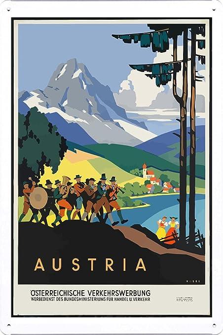 Amazon com: Tin Sign of Retro Vintage Travel Poster Mountain