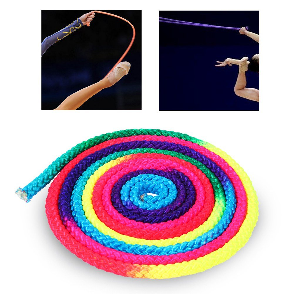 Corde De Gymnastique Rythmique Arc-en-Ciel De Gymnastique Corde /à Sauter pour La Comp/étition Sportive Dioche Corde De Gymnastique