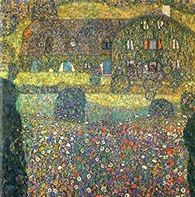 Landhaus Am Attersee By Gustav Klimt. 100% Hand Painted. Oil On Canvas. Reproduction. (Unframed and Unstretched).
