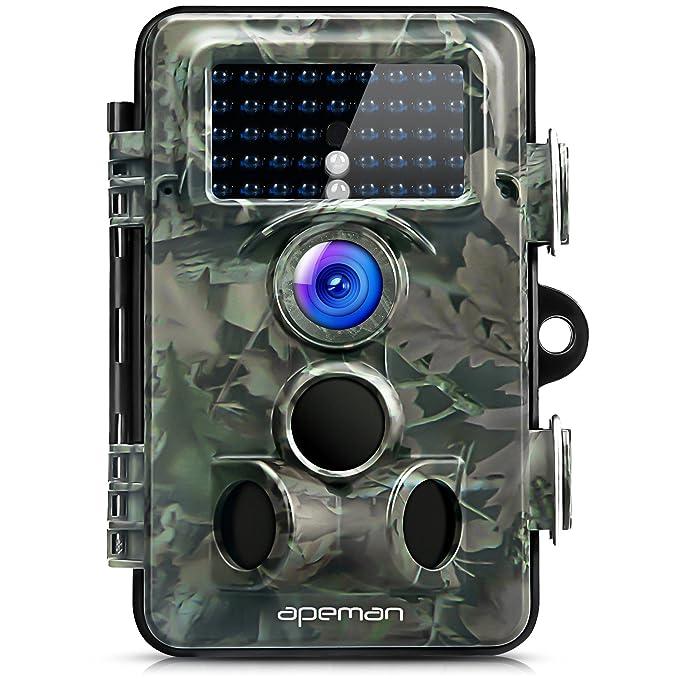 56 opinioni per apeman Fotocamera Caccia con Ampio Raggio di 130°Lens Fototrappola 12MP 1080P HD