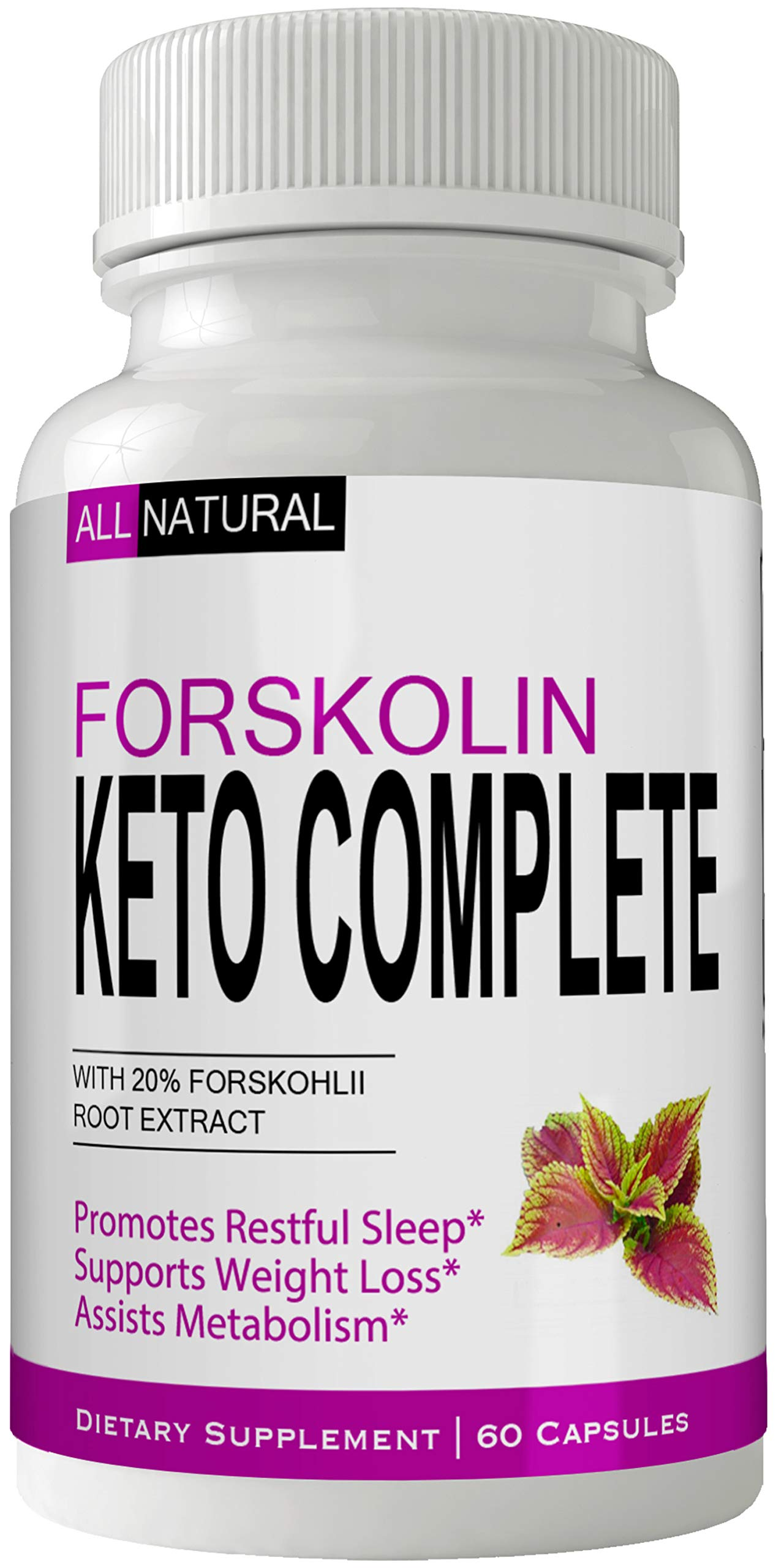 Forskolin Ketoboost Supplement for Weight Loss Capsules with Natural High Quality Pure Forskolin Extract Diet Pills
