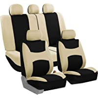 $31 » FH Group FB030BEIGEBLACK115 full seat cover (Side Airbag Compatible with Split Bench…