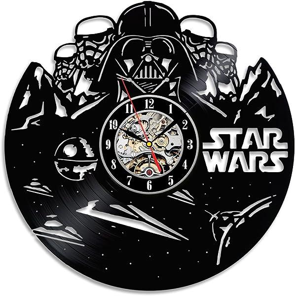 Hecho a mano regalo de cumpleaños Star Wars reloj de pared ...