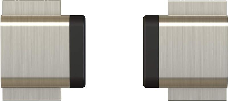 Barras de níquel satinado cepillado para puerta corredera de 2 puertas, para barra plana de 3,81 cm de ancho, 0,63 cm de espesor, intermedio: Amazon.es: Bricolaje y herramientas