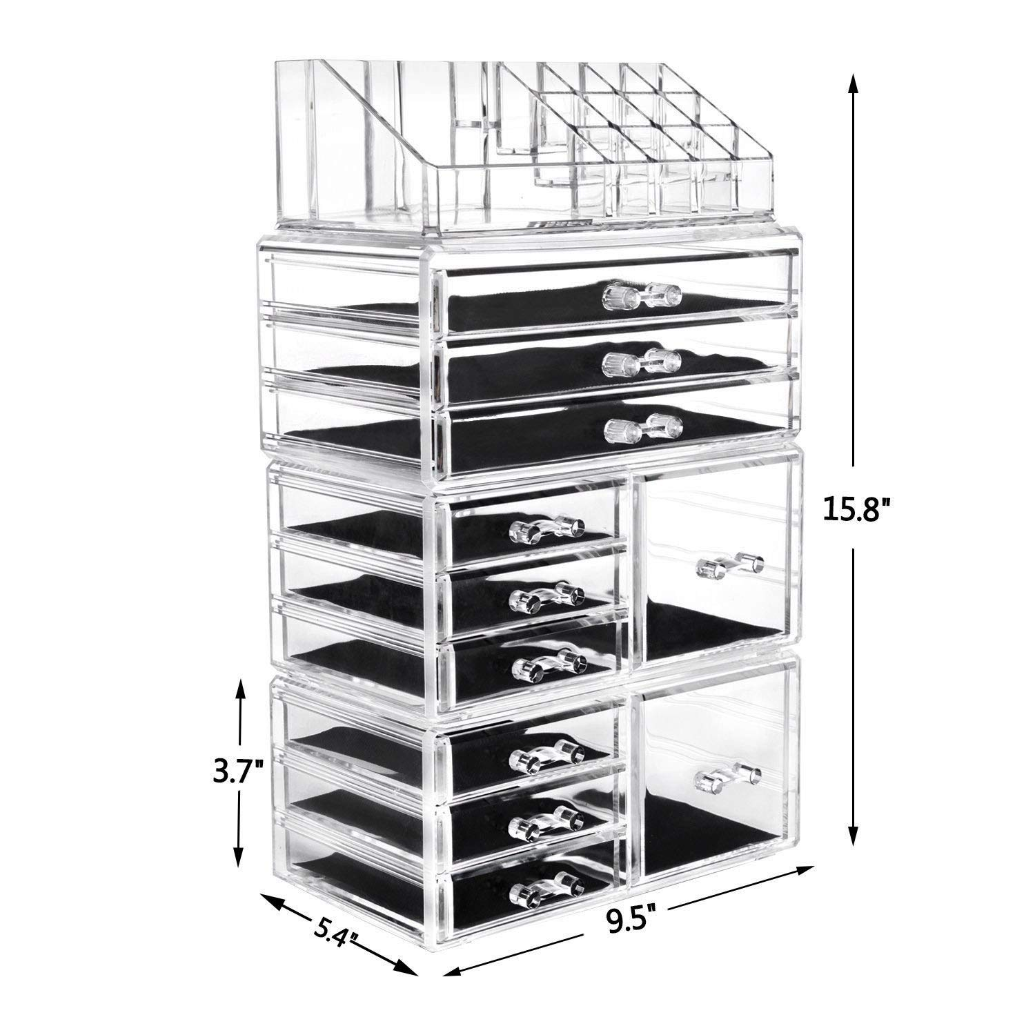 SF-1122-10 4Pcs / Set Plastic Cosmetics Storage Rack Transparent by Tenozek (Image #8)