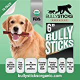 Bullysticks Organic Bully Sticks For Dogs - Big Bag 10 Pack Low Odor Dog Treats - All Natural Premium Beef - USDA/FDA Approved Hand Inspected Healthy Treat - 100% Happiness Guarantee!