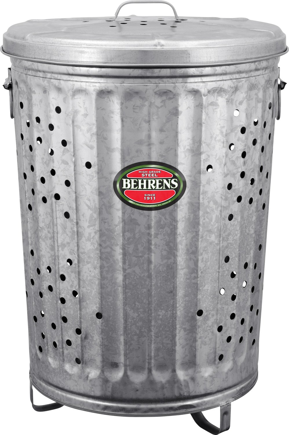Behrens RB20 Trash Burner Composter with Cover, 20 Gallon