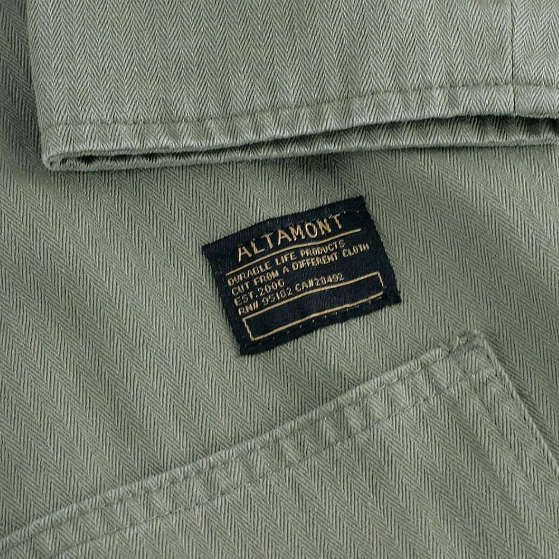 Altamont Marrow Button-Up Shirt Jacket Army Green Fall 2015 Range