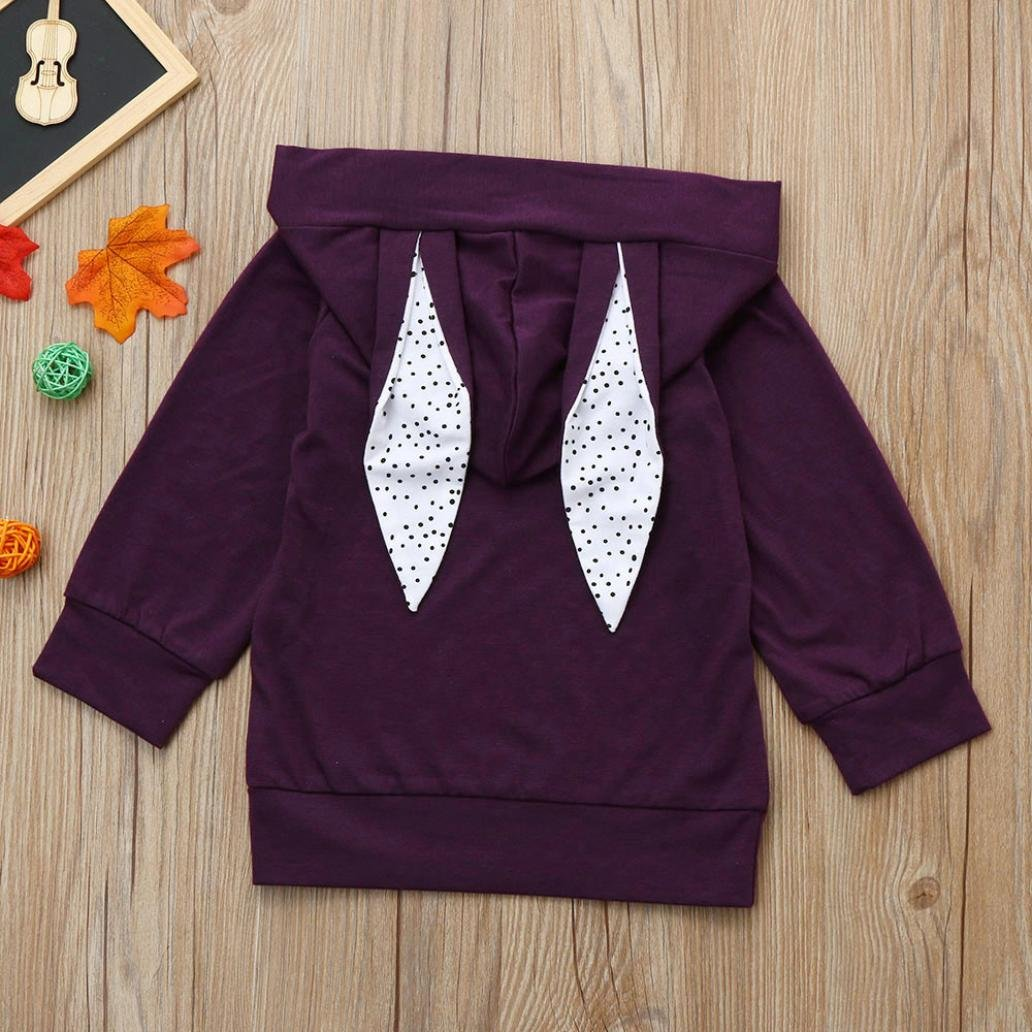 Konfa Girls Boys Cartoon Ear Hoodie Sweatshirt,Suitable For 2-7 Years Old,Children Fashion Coat Clothes