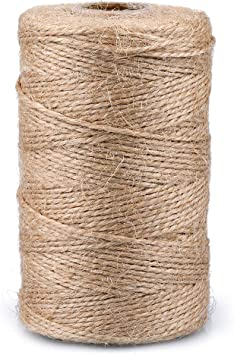 Packing Gardening and More Best Crafting Twine String for Craft Projects 656 Feet of 3 ply Jute Rope to Use Around The House and Garden Natural Jute Twine 2 Pack Gift Wrapping