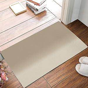 Lightrain Floor Mat Indoor Outdoor Entrance Door Mat Rugs Carpet Minimalist Solid Color Gradient Bathroom Kitchen Doormat Non Slip Waterproof Washable Mats Home Office Decor 23.6 x 15.7 Inch