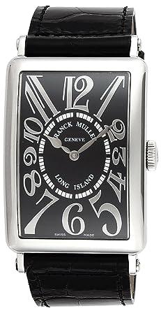 9510d91aed1e [フランクミュラー]FRANCK MULLER 腕時計 ロングアイランド ブラック文字盤 自動巻 クロコ革