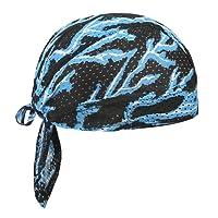 Cycling Skeleton Hat Men Sport Headwear Retro Pirate Cap Youth Hiphop Bandana Motorcycle Bike Magic Skull Cap Sun UV Protection Running Headband Under Helmet Cotton Beanie Summer Windproof Turban Gift