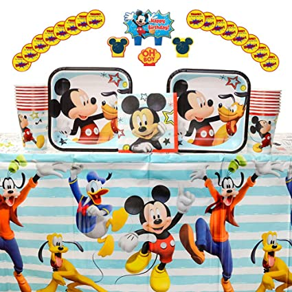 Amazon.com: Disney Mickey On the Go - Pack de 16 invitados ...