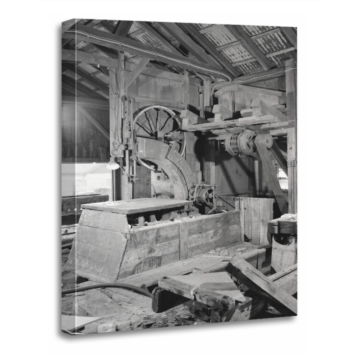 TORASS Canvas Wall Art Print Photos Industrial Sawmill Band Saw Photography  Artwork for Home Decor 12