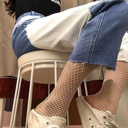 ANDIBEIQI 4 Pares Medias de Rejilla de Red Calcetines de Rejilla para Mujer Fishnet Tights Talla única: Amazon.es: Ropa y accesorios