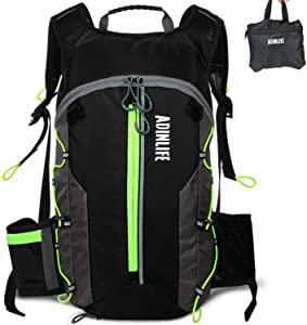 ADINLIFE Lightweight Cycling Backpack, 10L Outdoor Backack Hydration Pack for Running Hiking Cycling Camping