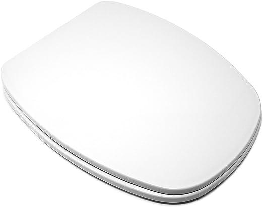 Asiento Inodoro Muy Resistente Tapa WC Compatible DIANA GALA Blanco F/ácil Instalaci/ón y Limpieza Bisagra Ajustable 42 x 34 x 4,5 cm
