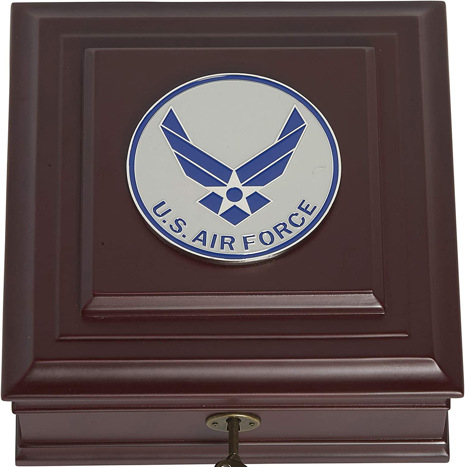 Amazon Com Allied Frame Us Air Force Wings Medallion Desktop Box Home Kitchen