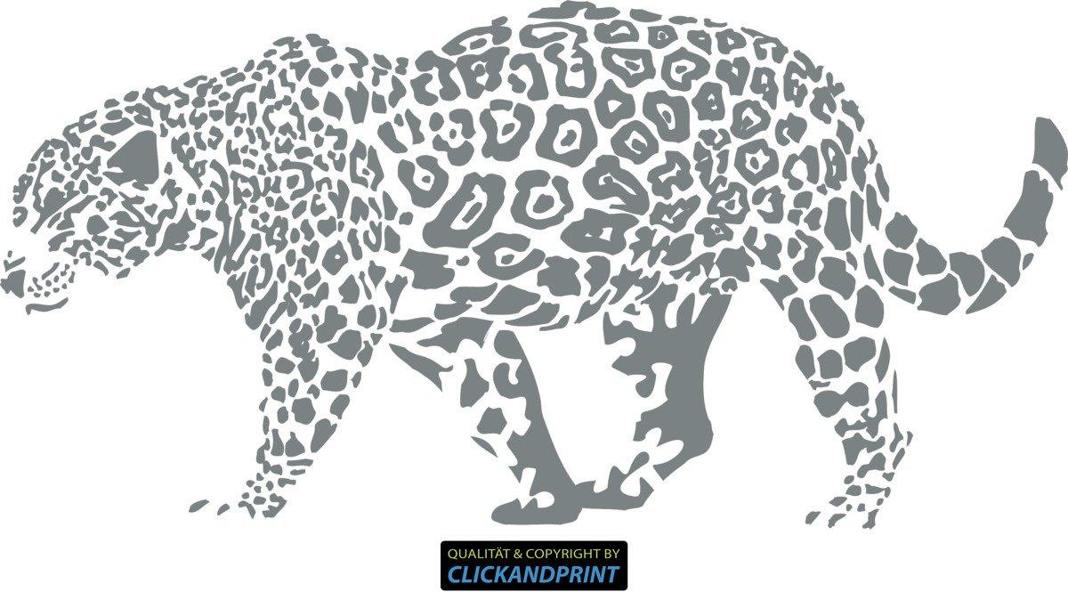 CLICKANDPRINT Aufkleber » Leopard, Leopard, Leopard, 150x74,4cm, Türkis • Wandtattoo   Wandaufkleber   Wandsticker   Wanddeko   Vinyl B073X73PX4 Wandtattoos & Wandbilder 704623