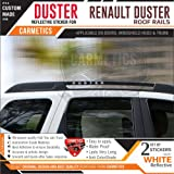 CarMetics Duster Reflective Stickers for Renault Duster roof Rails Free Gang of Duster Decal