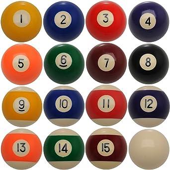Lunares y Rayas Bolas de billar billar americano de tamaño 2 1/4 ...