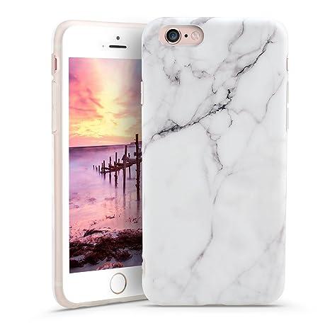 Funda iPhone 6 iPhone 6S, POOPHUNS Carcasa iPhone 6 iPhone 6S, Diseño Mármol, TPU Silicona Fundas Carcasas Case Cover Caso Protectora, Ultra Slim, ...