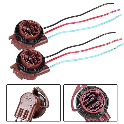 71JKbek%2BbdL._SX425_ amazon com partssquare 2x 3157 4157 bulb female socket brake turn GM Turn Signal Wiring at gsmx.co