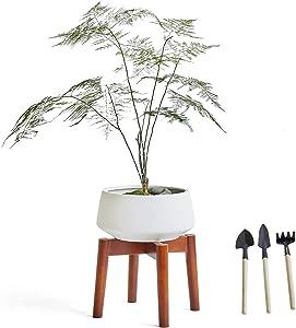 Plant Stand Mid Century Indoor Plants Stands ,Pot Not Included ,Modern Indoor Outdoor Wood Flower Pot Holder Rustic Home Decor (Brown)