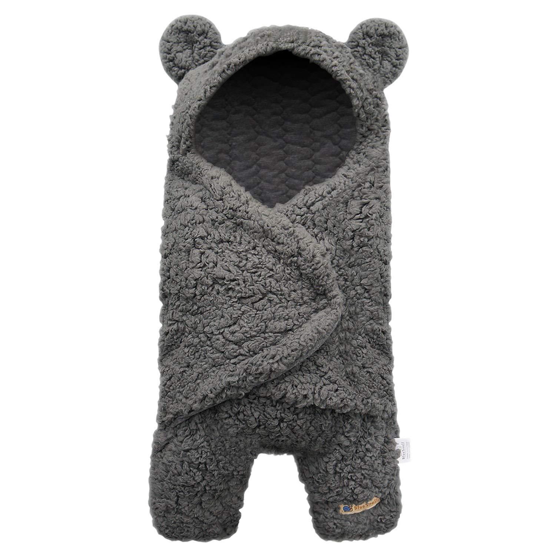 BlueSnail Newborn Receiving Blanket Baby Sleeping Wrap Swaddle (Gray) by BlueSnail