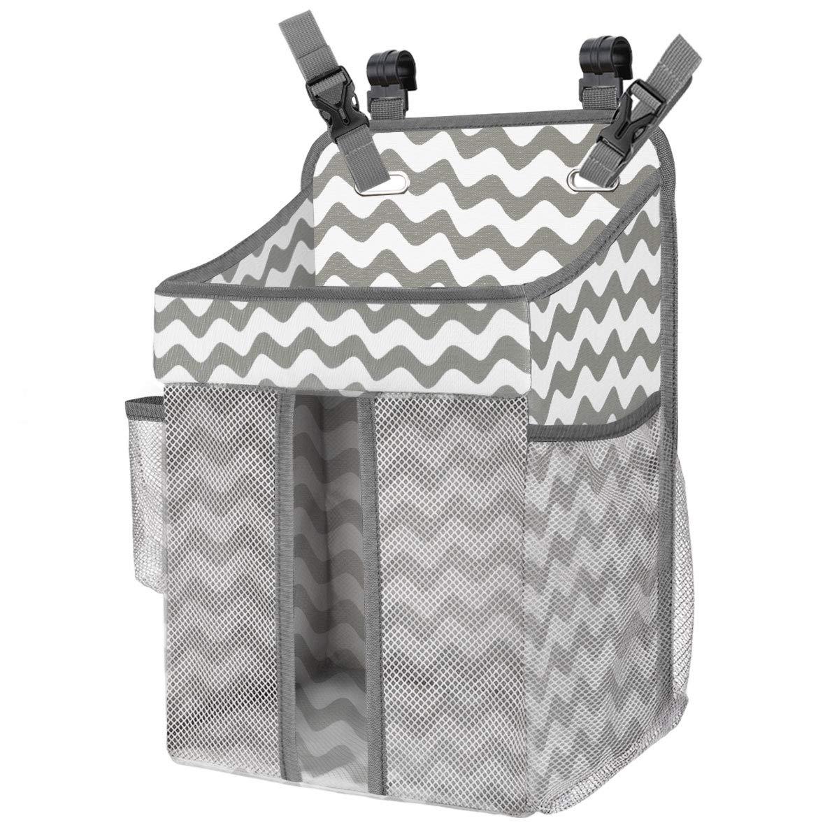 Baby Crib Hanging Bags Portable Bedside Organizer Diaper Storage Bag Box