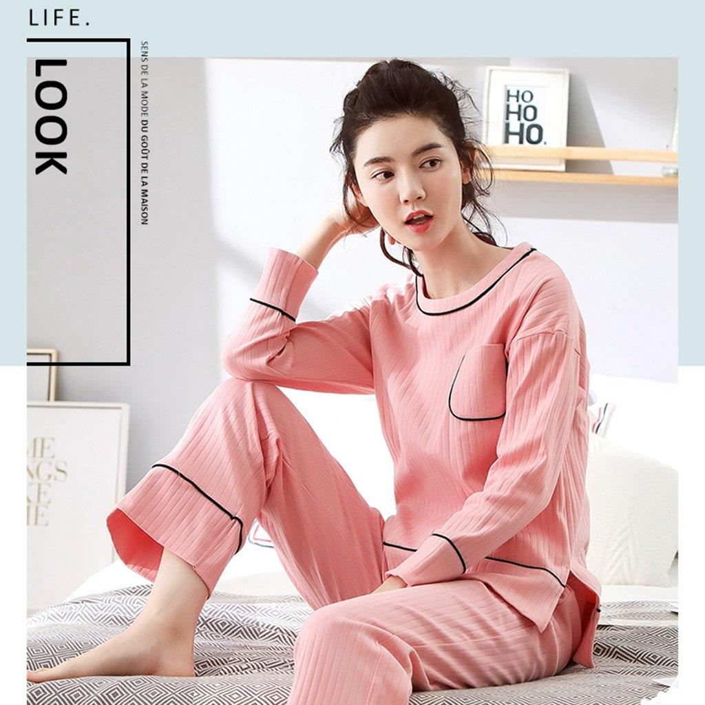 Pijama SG dulce de manga : larga de algodón para mujer primavera y ...