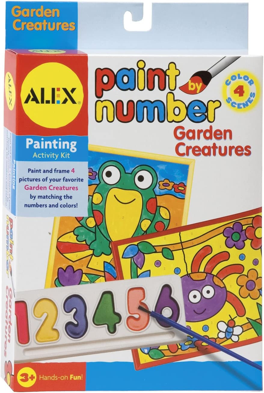 Paint By Number 5 Inch x 7 Inch Kit 4/Pkg-Garden Creatures (並行輸入品)
