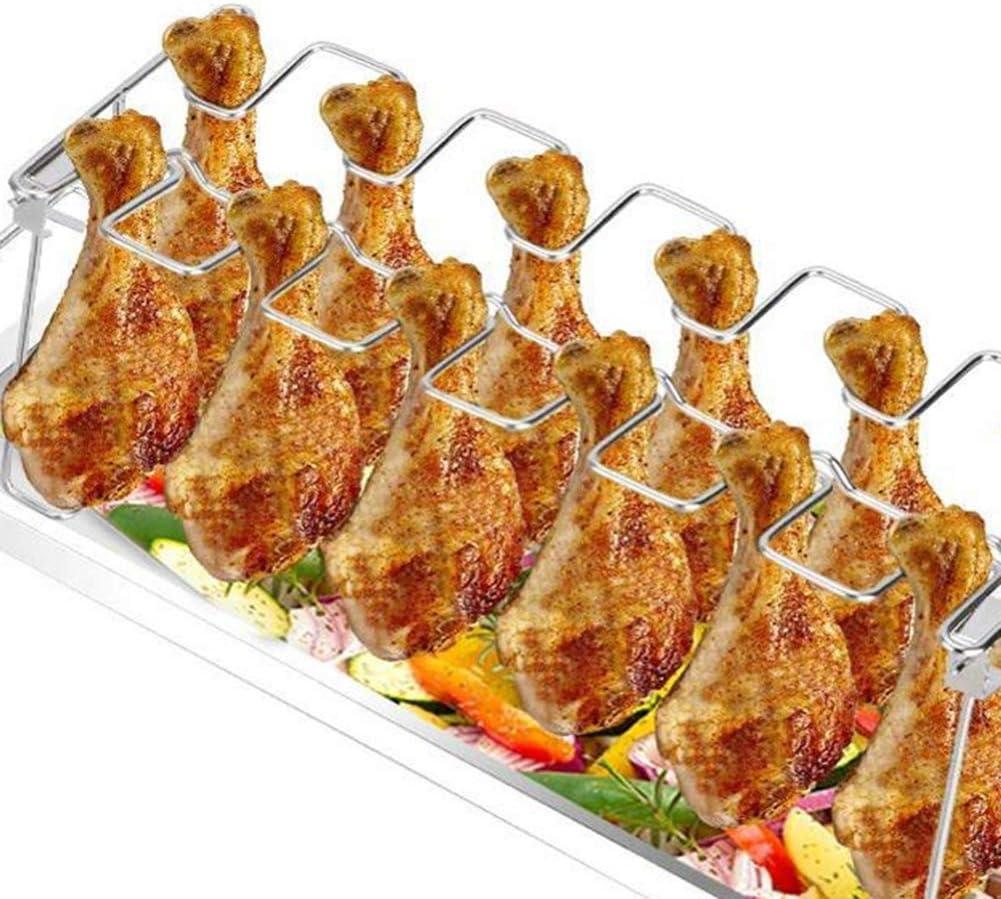 Gychee Rack De Pollo con 12 Ranuras Parrilla Multipropósito para ...