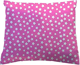 product image for SheetWorld - Toddler Pillowcase Hypoallergenic Made in USA - Reverse Stars Collection - Pink 13 x 17