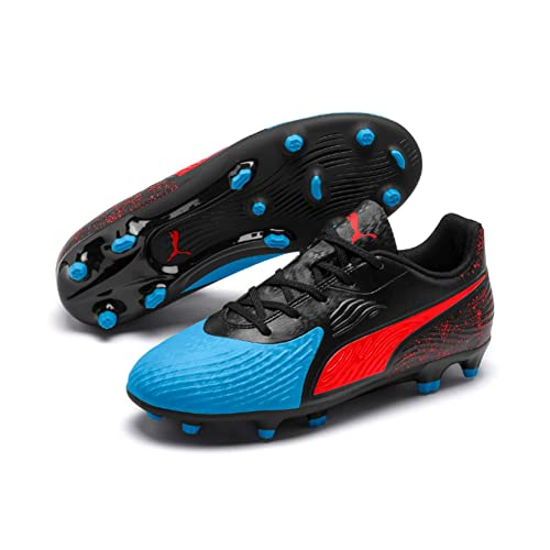 official photos a67ca 91807 Puma One 19.4 FG AG Jr, Chaussures de Football Mixte Enfant, (Bleu