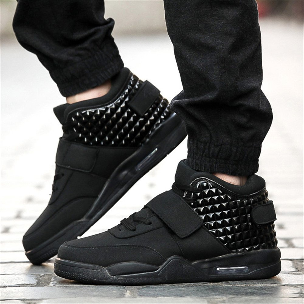 DUORO Mens High-Top Fashion Sneakers Sport Outdoor Shoes Lightweight Breathable Running Casual Trainers